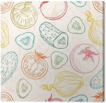 seamless sketch vegetables