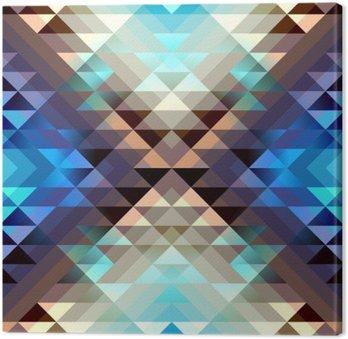 Blue aztecs pattern