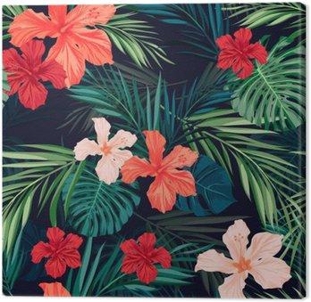 Jasne kolorowe tropikalnych szwu tła z liśćmi i