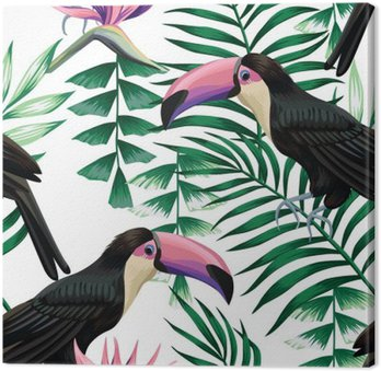 toucan tropical pattern