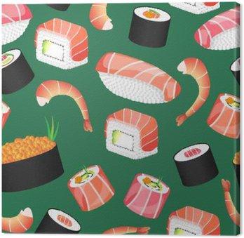 Sushi zielony wzór