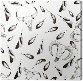 Sketch pens and sheep skull cow pattern