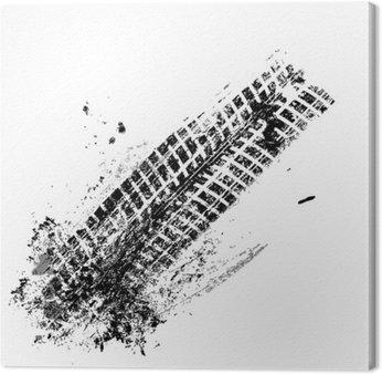 Tor Grunge opona czarna na białym tle, wektor
