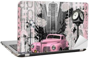 Rocznika różowy auto