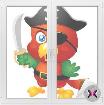 Ilustracja Cartoon Pirate Parrot